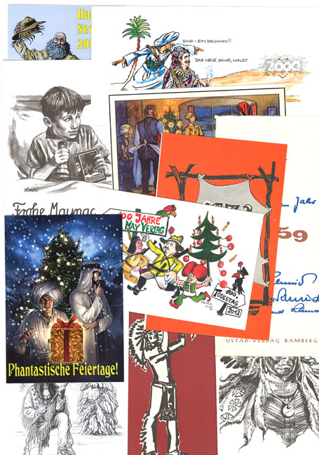 Weihnachtskarten Verlag.Karl May Verlag Weihnachtskarten Karl May Verlag 12 Stück